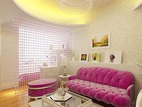 14张客厅隔断水晶帘效果图 清新唯美