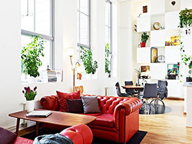 红色家具沙发设计 18图给家添颜色