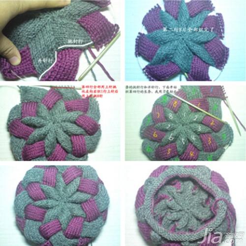 手工织帽子的方法花样解析