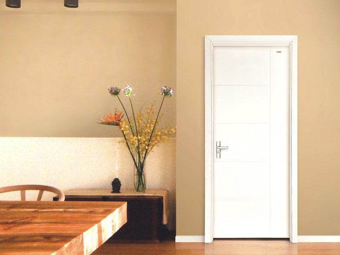 白色简洁木门图片