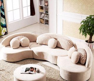 现代客厅创意半圆形组合沙发设计效果图_齐家网装修图片