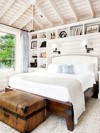 原木色卧室吊顶效果图