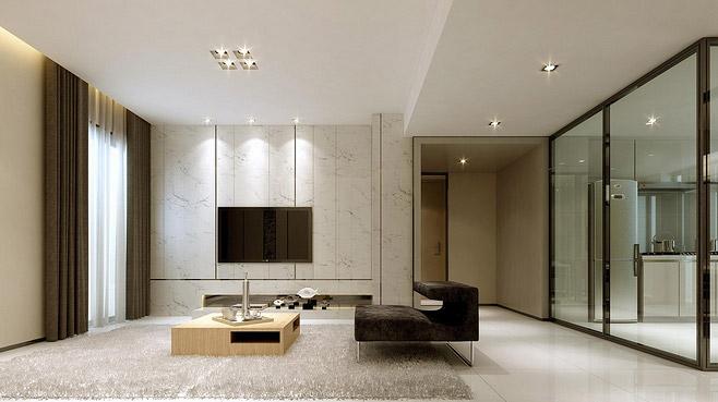 新中式客厅走廊效果图