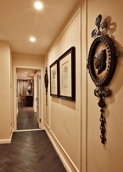 美式照片墙走廊效果图