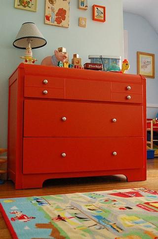 时尚红色玄关柜图片