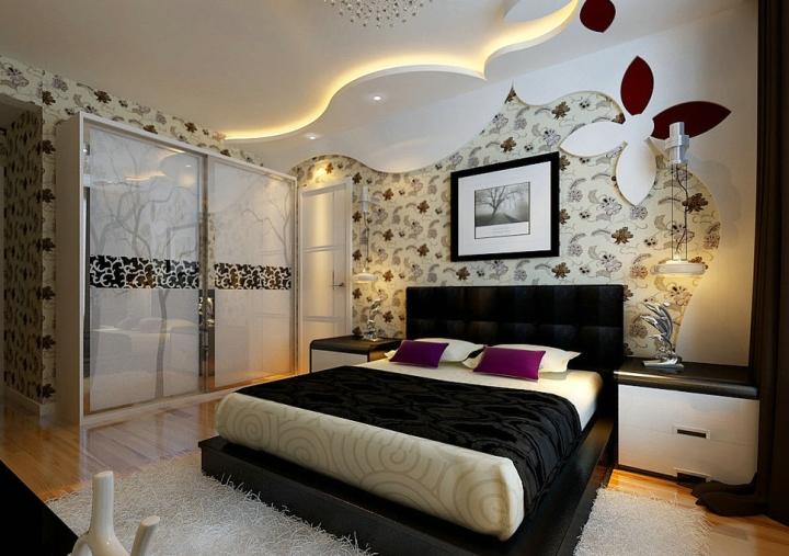 现代风格白色卧室衣柜效果图