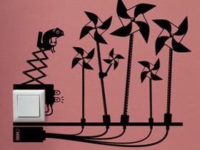 平添艺术气息 12款插座手绘墙画设计
