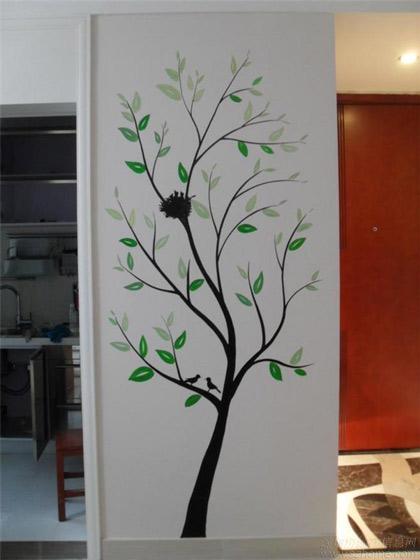 室内手绘墙装修效果图