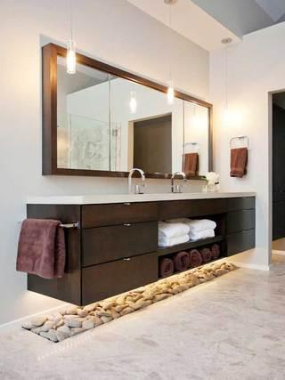 现代简约浴室柜装修设计图片