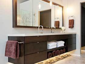 14张现代简约浴室柜效果图 简单大气