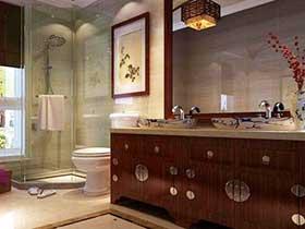 14在中式浴室柜圖片 穩重復古