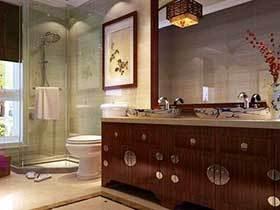 14在中式浴室柜图片 稳重复古
