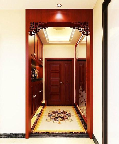 实木中式玄关柜效果图