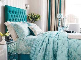 静谧睡眠空间 12款蓝色床头软包图片