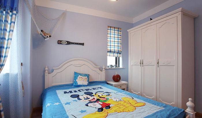 地中海白色儿童床效果图