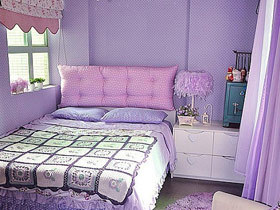 浪漫紫色居室 13款紫色床头软包装修