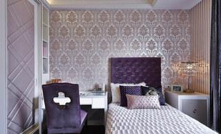新古典紫色卧室效果图