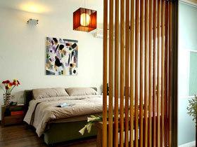 屏风装饰卧室 15个屏风卧室背景墙设计