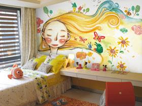 时尚有创意 12款手绘卧室背景墙图片