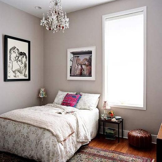 浅灰色卧室背景墙效果图