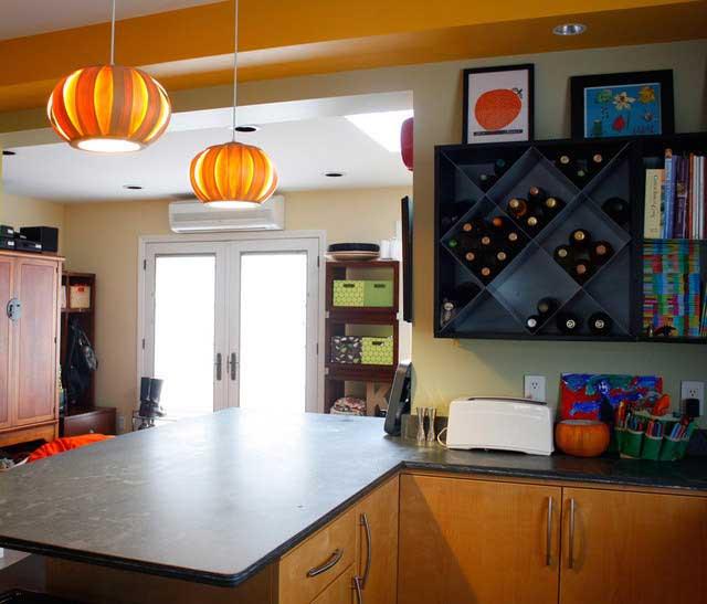 厨房壁柜酒架设计效果图