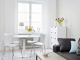 简约风情餐厅 小清新色调餐桌椅设计