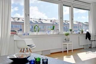 白色窗帘设计效果图片