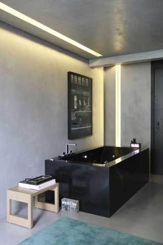 黑色酷感浴缸设计图片
