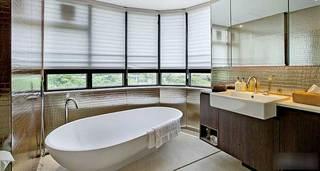 白色清新简约浴缸设计图片