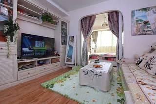 田园风格5-10万60平米婚房家装图