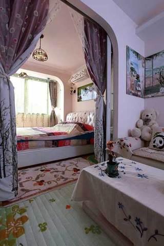 紫色窗帘设计图片