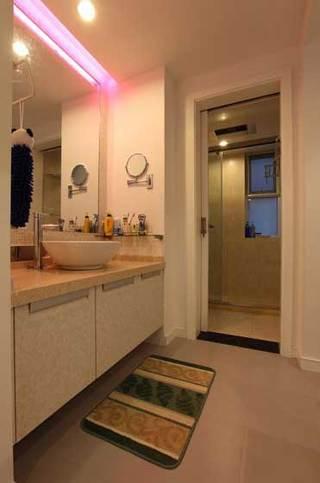 现代石化暖色调洗手台设计效果图