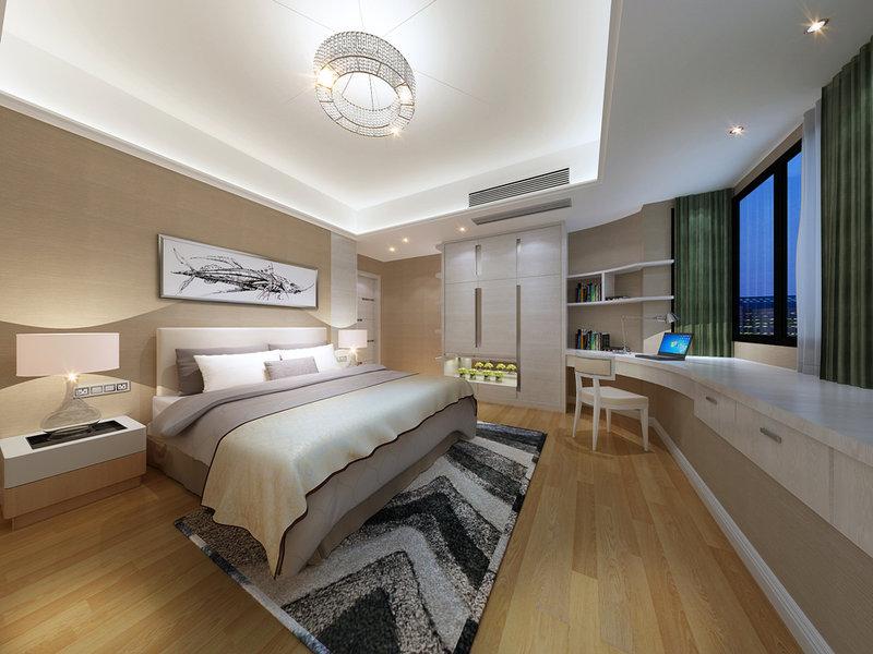 东海国际公寓装修效果图,室内设计效果图-齐家装修网