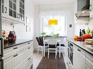 简欧白色清新厨房设计效果图