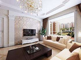 多彩电视墙壁纸 14款简单风格设计