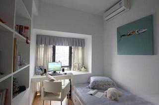 浅灰色淡雅书房休息室设计效果图