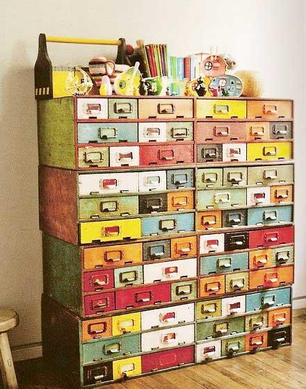 彩色收纳柜设计图