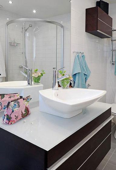 北欧清爽洗手台设计图片