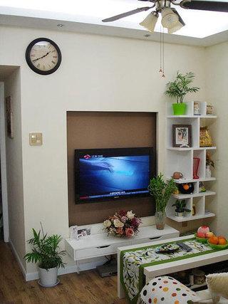 温馨田园电视背景墙设计效果图