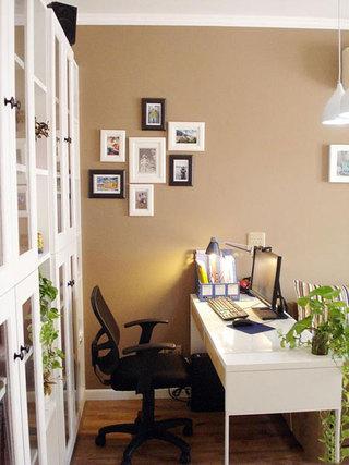 田园风格二居室5-10万70平米书柜效果图