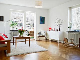 简洁宜家客厅设计效果图