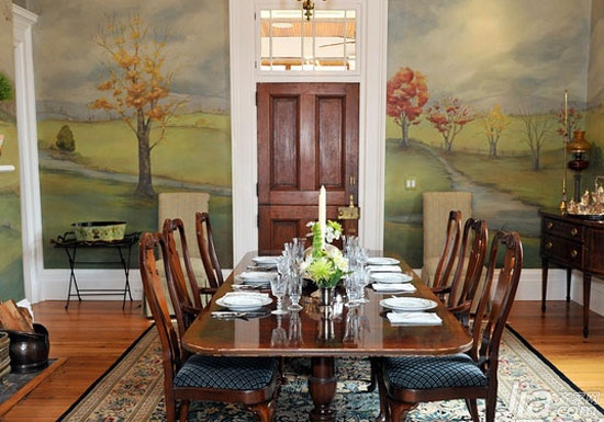 9款餐厅手绘墙 要的就是漂亮!
