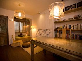 日式混搭风一居公寓效果图