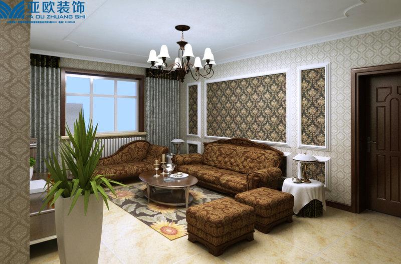三居室装修效果图,适合中老年人温馨装修风格装修