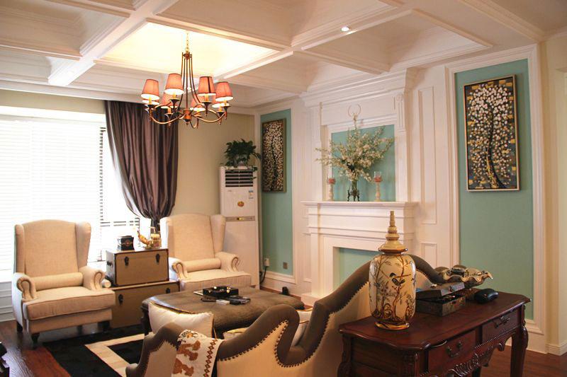 法式浪漫客厅设计效果图图片