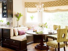 美式飘窗休闲区效果图 雅致卷帘设计