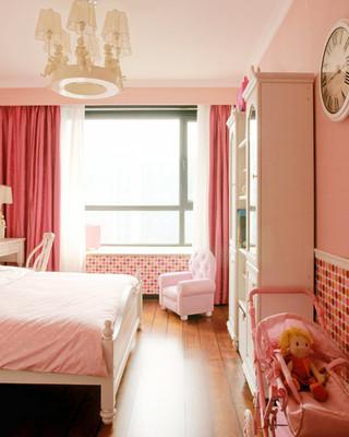 欧式风格卧室飘窗窗帘效果图