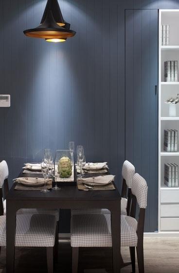 现代简约风格三室一厅灰色装修图片