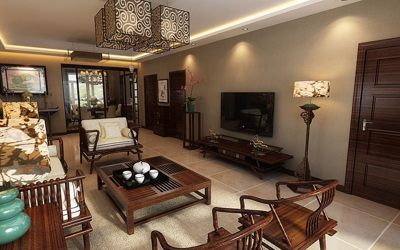 中式风格136平3居室