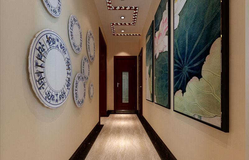 中式艺术过道设计效果图图片